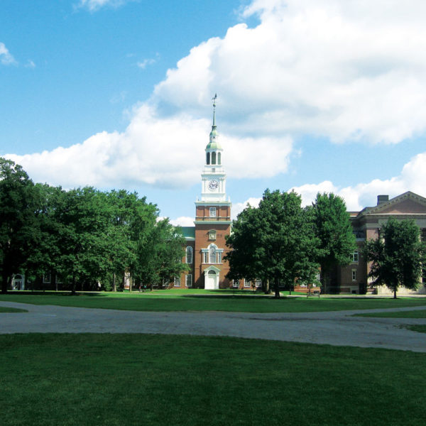 Baker Tower on the campus of Dartmouth College