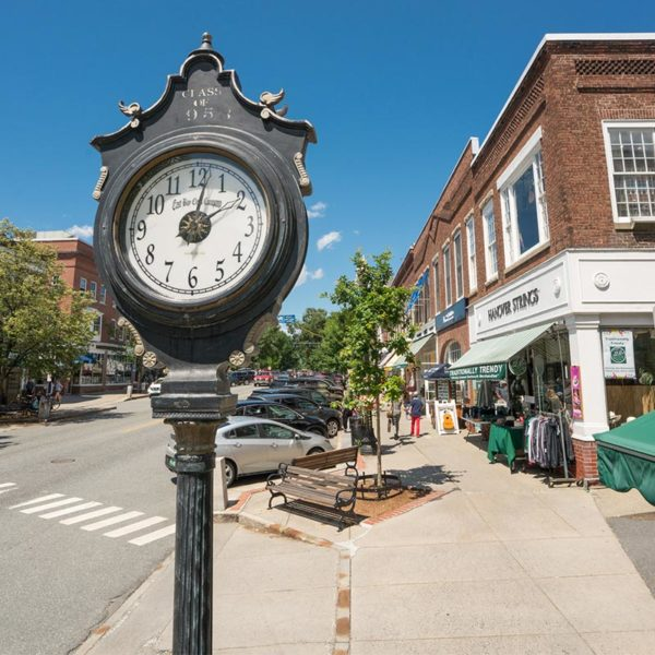 Clock on Main St in Hanover