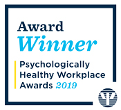 Award Winner Psychologically healthy workplace awards 2019