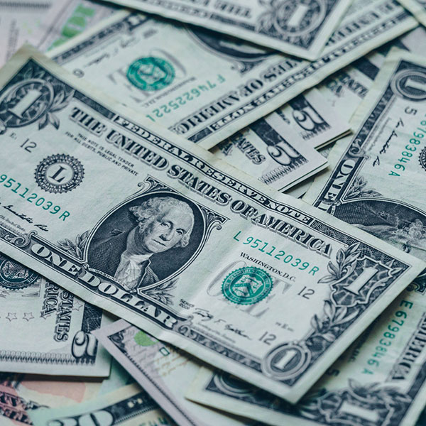 one us dollar banknotes