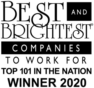Best & Brightest Companies to Work Top 101 in Nation 2020 award